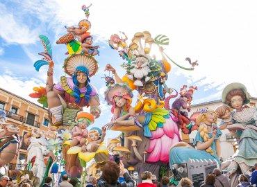 نمایی از فستیوال LAS-FALLAS