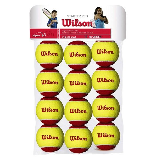 توپ تنیس ویلسون 12 عددی مدل Starter Red Ball