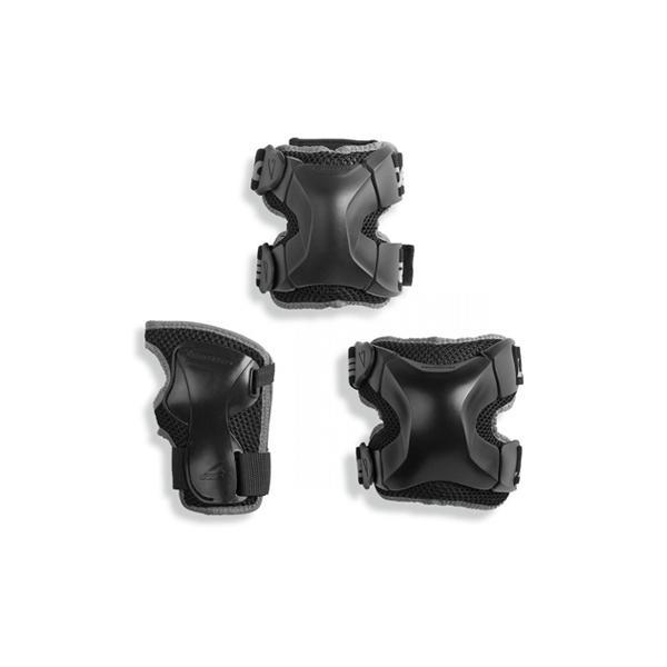 ست ایمنی مدل X-GEAR 3 PACK، ست ایمنی از برند Rollerblade می باشد. این ست شامل زانو بند، آرنج بند و کف بند ( محافظ کف دست ) می باشد.