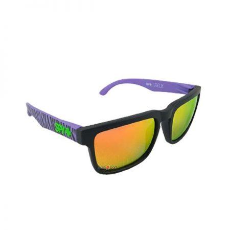 عینک آفتابی +SPY بنفش طرح دار
